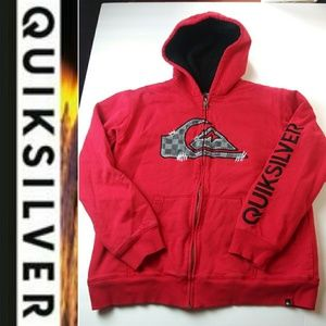 Quiksilver Boys L 14/16 Red Sweater